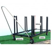 ATHLETICS-HURDLE TROLLEY-COLLAPSIBLE HURDLES-JNR/LT A (30)