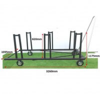 ATHLETICS-HURDLE TROLLEY-COLLAPSIBLE HURDLES-JNR/LT A (40)