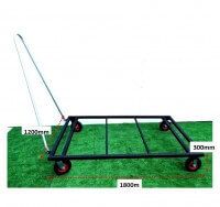 ATHLETICS-HIGH JUMP MAT TROLLEY-1800X1200-STD WHEELS