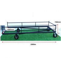 ATHLETICS-HURDLE TROLLEY - FIXED HURDLES-JNR (40)